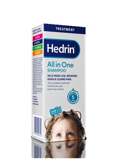 Hedrin All in One, šampon za odstranjevanje uši in gnid, 200 ml + glavnik
