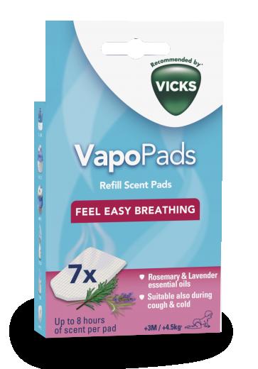 VICKS VapoPads vložki rožmarin in lavanda 7 kom. VBR7EV1