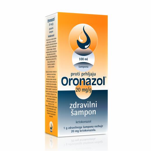 Oronazol 20 mg/g zdravilni šampon, 100 ml
