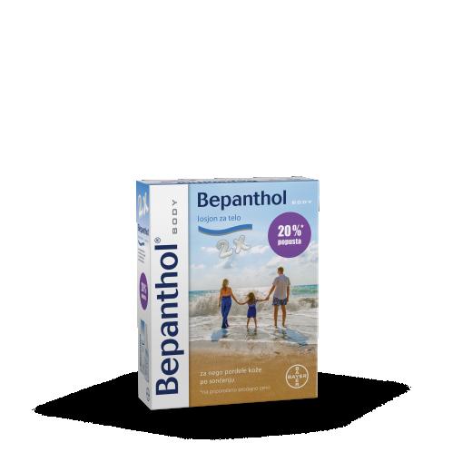 Bepanthol losjon za telo, promocijsko pakiranje (2x200 ml)