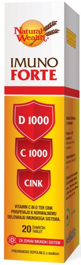 IMUNO FORTE, 20 šumečih tablet