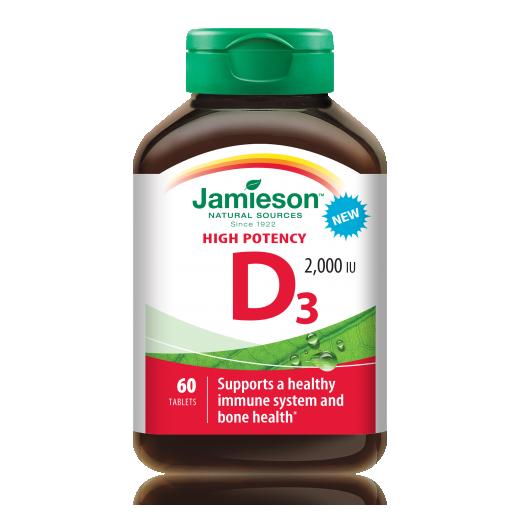 Jamieson Vitamin D 2000 I.E., tablete