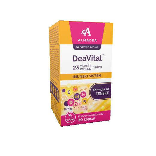 DeaVital, multivitamin za ženske, 30 kapsul