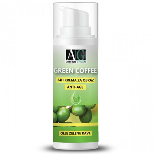 Naravna krema za obraz GREEN COFFEE 24H