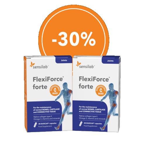 FlexiForce forte, -30% AKCIJSKO DVOJNO pakiranje,  2x30 kapsul, Sensilab