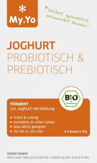 Bio Fermenti za pripravo jogurta (pro- in prebiotik), 3 x 25 g