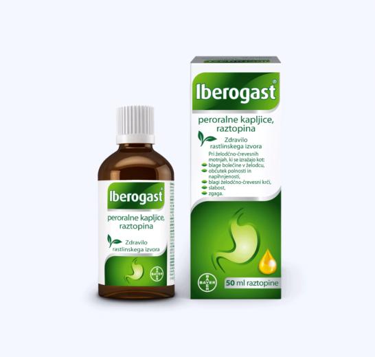 Iberogast peroralne kapljice, raztopina 50 ml