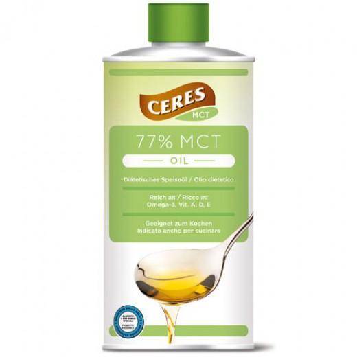 77-odstotno dietetično olje CERES MCT, 500 ml