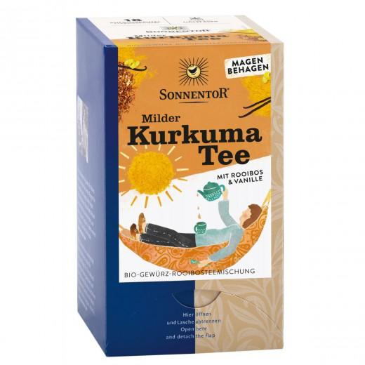Bio blag kurkumin čaj z rooibosom in vanilijo Sonnentor, 18 čajnih vrečk