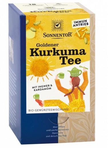 Bio zlati kurkumin čaj Sonnentor, 18 čajnih vrečk