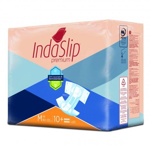 Plenice hlačne Indaslip Premium M10 Plus - nočne/srednje, 20 kos/zavitek