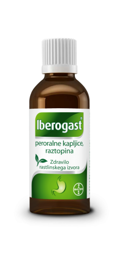 Iberogast peroralne kapljice, raztopina 20 ml
