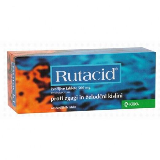 Rutacid 500 mg žvečljive tablete, 60 tablet