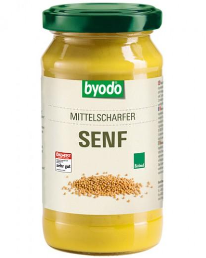 Bio srednje pekoča gorčica Byodo, 200 ml