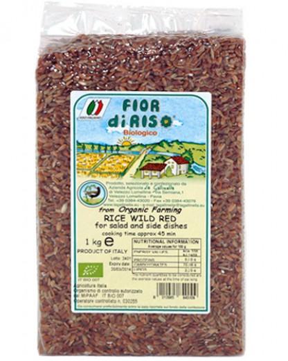 Bio divji rdeči riž La Gallinella, 1 kg