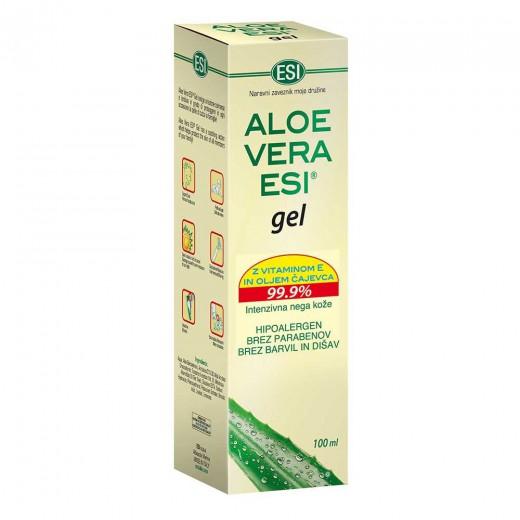 Aloe vera Esi gel z vitaminom E in oljem čajevca, 100 ml