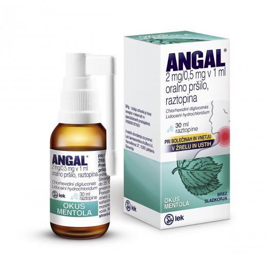 Angal 2 mg/0,5 mg v 1 ml oralno pršilo, raztopina, 30 ml
