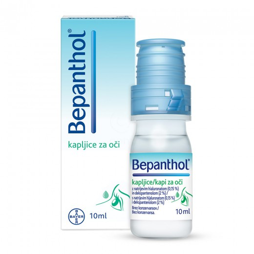 Bepanthol, kapljice za oči, 10 ml
