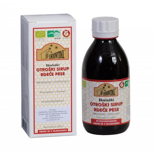 Endovital, ekološki sirup rdeče pese za otroke, 200 ml