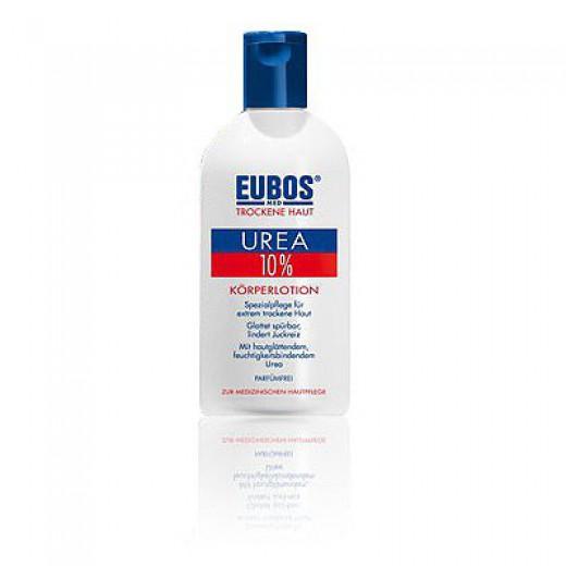 10% UREA intenzivni losjon za telo pri ekstremno suhi, srbeči koži Eubos, 200 ml