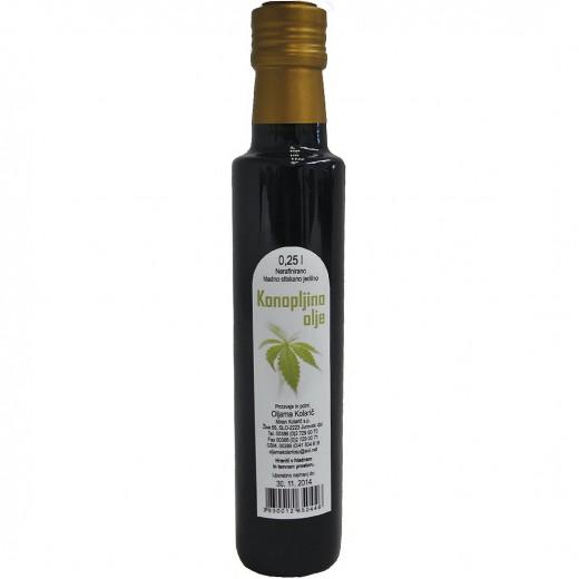 Hladno stiskano konopljino olje Kolarič, 250 ml