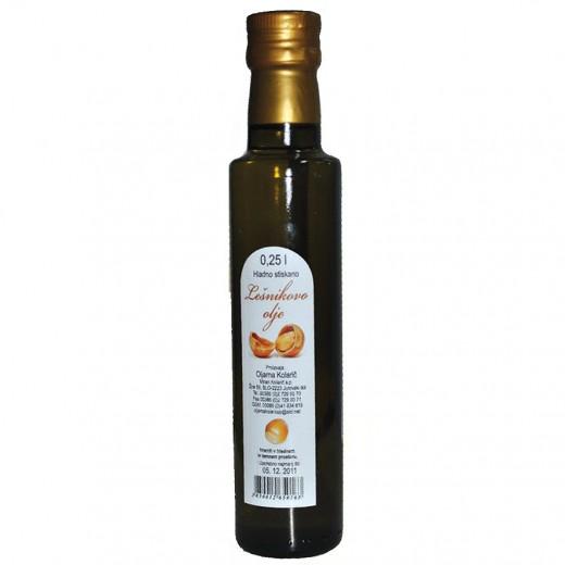 Hladno stiskano lešnikovo olje Kolarič, 250 ml