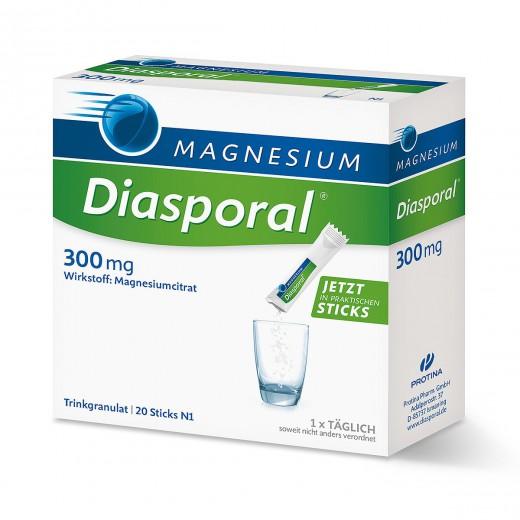 Magnesium - Diasporal, prehransko dopolnilo, 300 mg, 20 vrečk