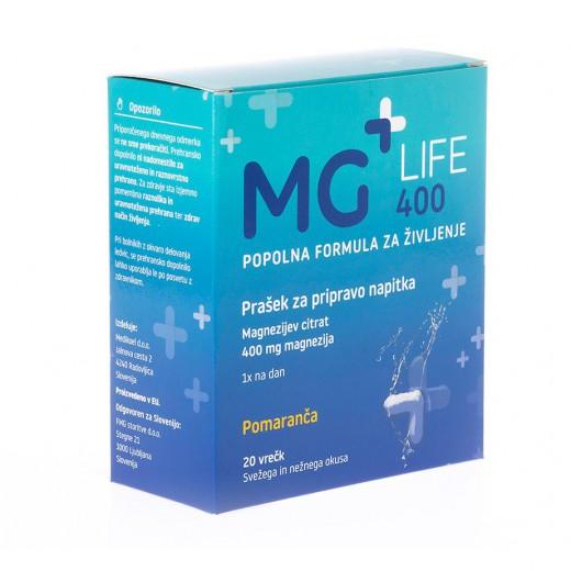 Mg + Life, magnezij 400, 20 vrečk