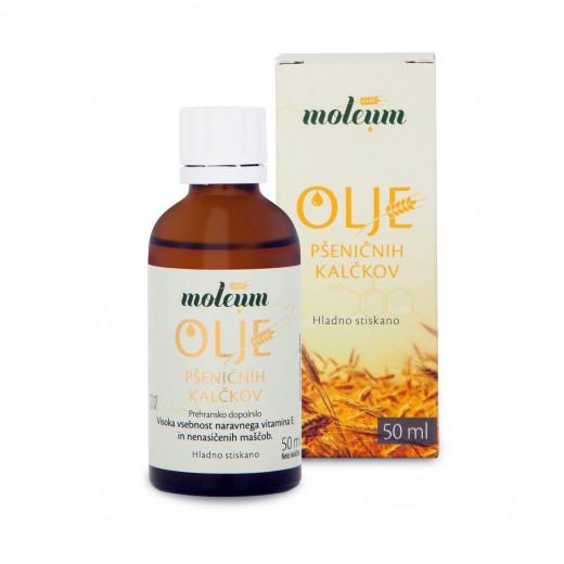 Moleum, olje pšeničnih kalčkov, 50 ml