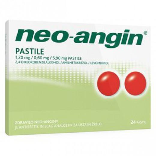 Neo-angin 1,20 mg/0,60 mg/5,90 mg pastile, 24 pastil