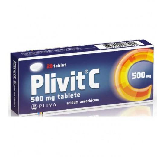 Plivit C 500 mg tablete, 20 tablet