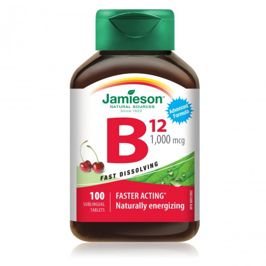 Jamieson vit B12 1000mcg tbl 100x