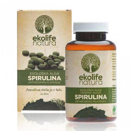 Ekolife natura, ekološka alga spirulina, 240 tablet