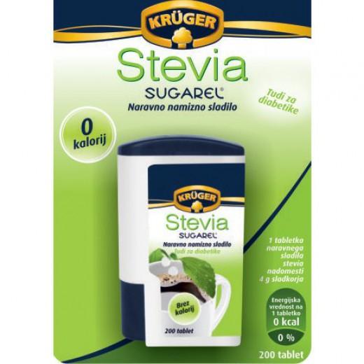 Namizno sladilo Krüger Stevia Sugarel, 200 tablet
