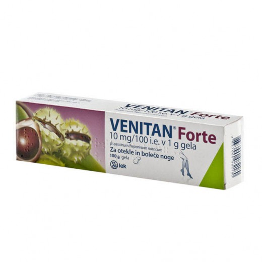 Venitan forte 10 mg/100 i.e. v 1 g gela, 100 g