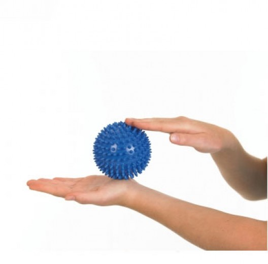 Masažna žogica Knobbed Togu 10 cm modra
